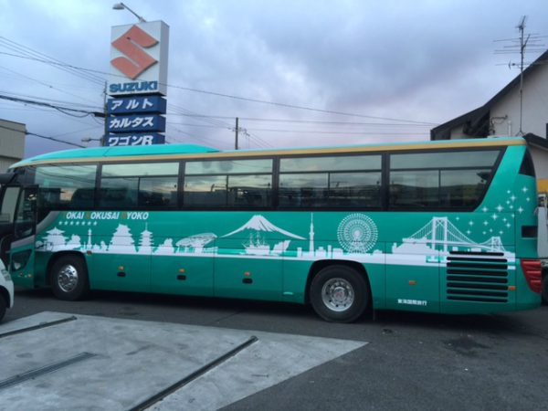 観光バス マーキング