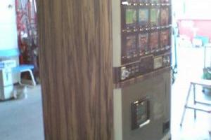 自販機ウッドフィルム貼りのサムネイル