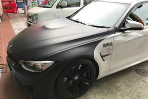 BMW マットブラックラッピングのサムネイル