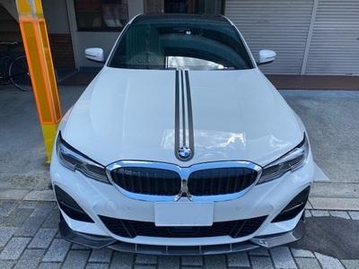 BMW ルーフラッピング・センターストライプ